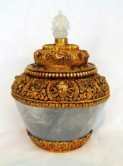 Crystal Treasure Vase Gold plated