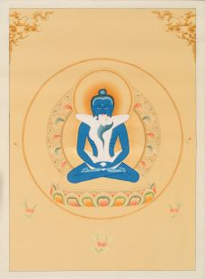 Samantabhadra BuddhaHand Painted Thanka